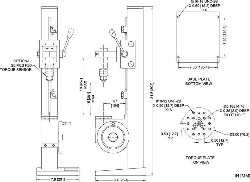 máy test lực vặn nắp chai bằng tay TST Mark 10