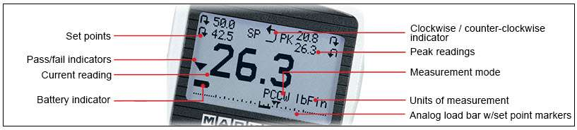 màn hình hiển thị cảm biến đo momen xoắn tt03c mark 10