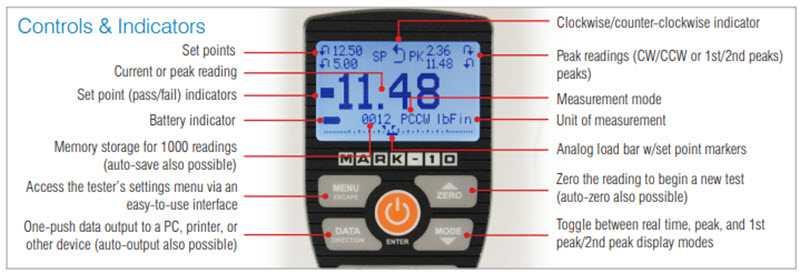 màn hình hiển thị cảm biến đo momen xoắn tt05 mark 10