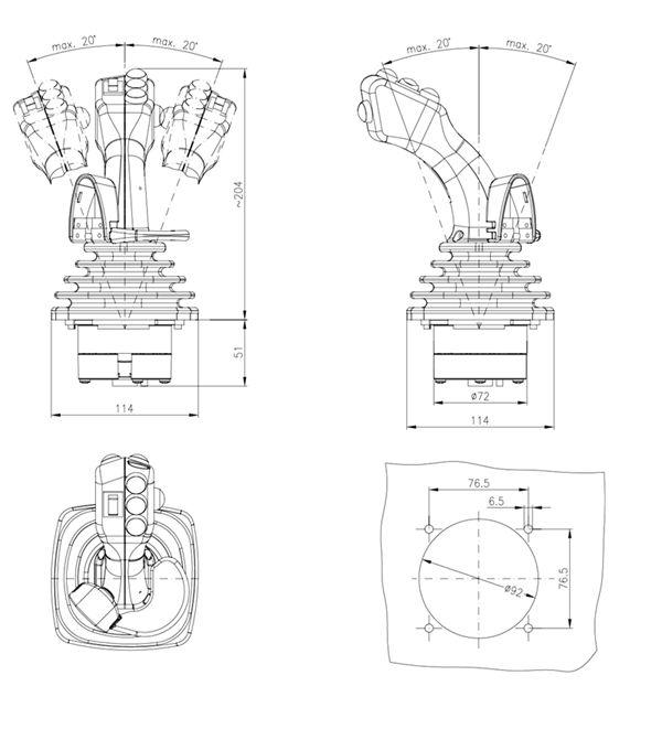 kính thước cần chỉnh hướng hs2 spohn burkhardt